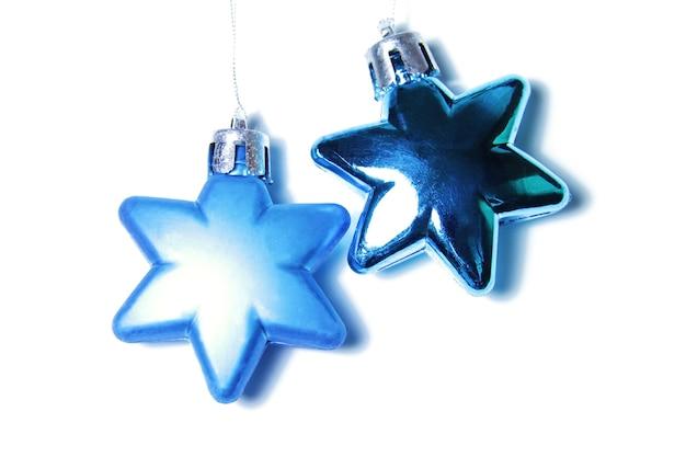 Noël à plat avec ornement en verre en forme d'étoile