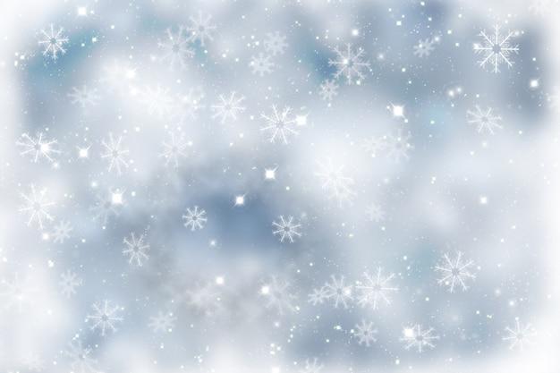 Noël scintillant avec des flocons de neige