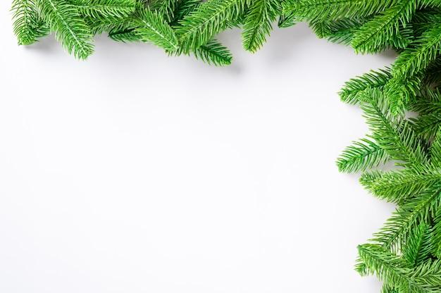 Noël vacances cadre sapin frontière branche