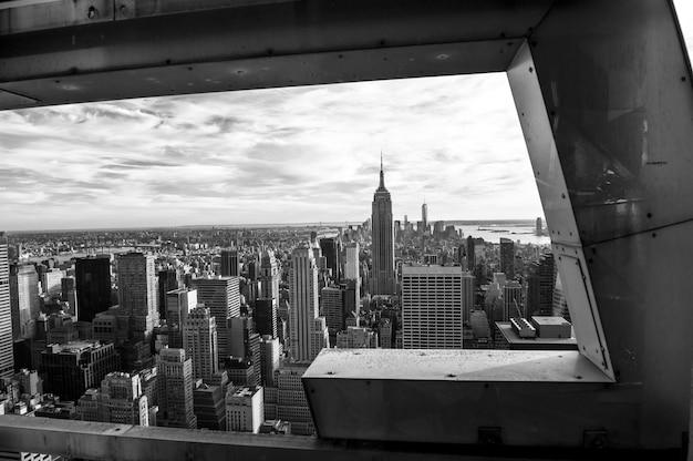 Noir et blanc à new york