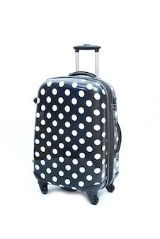 Noir de grande valise moderne sur un blanc