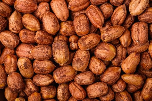 Noisettes texture naturelle saine alimentation végétalienne