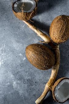 Noix de coco hachées mûres