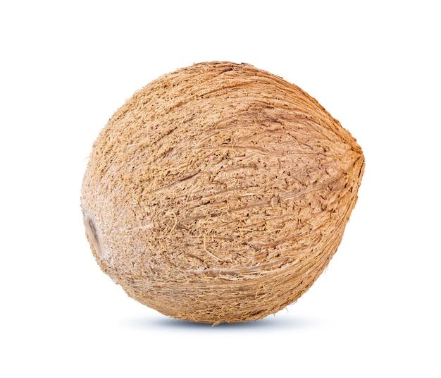 Noix de coco sur tableau blanc.