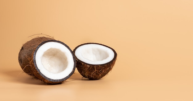 Noix de coco en tranches