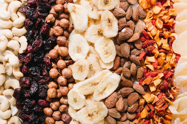 Noix mélangées et fruits secs