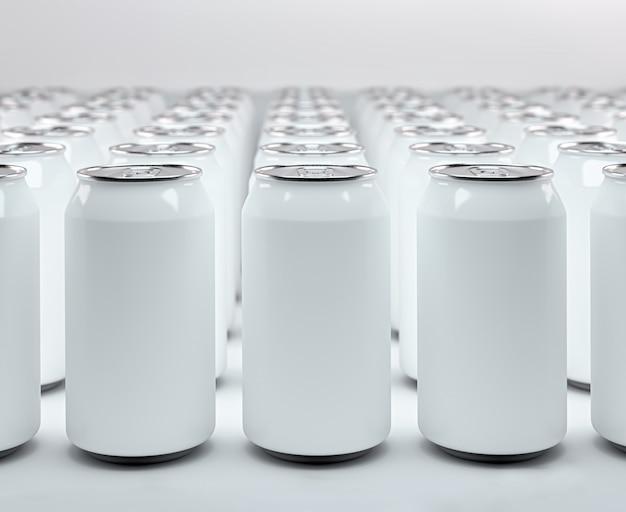 De nombreuses canettes de soda