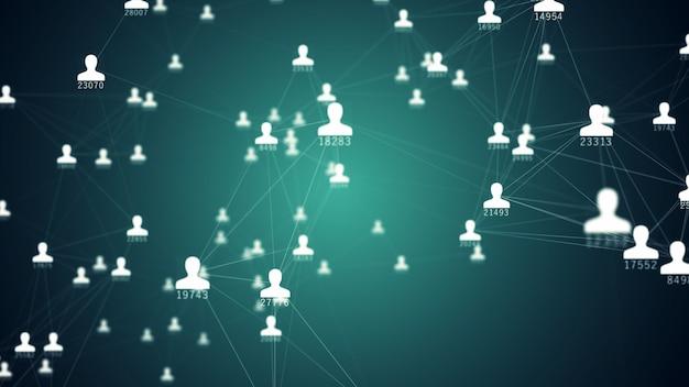 Nombreuses connexions entre avatars