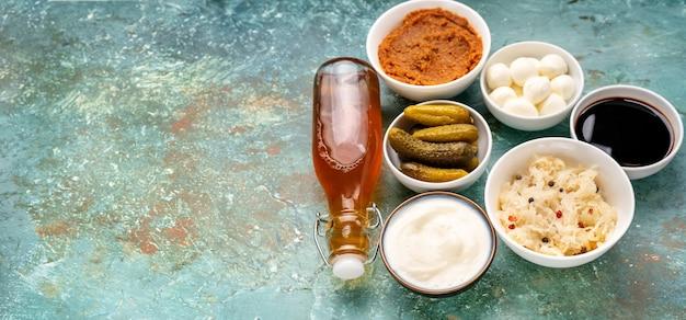 De nombreux produits fermentés