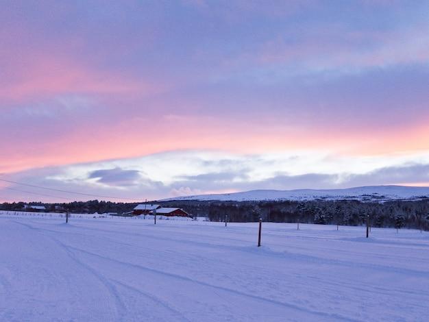 Norvège hiver neige paysage