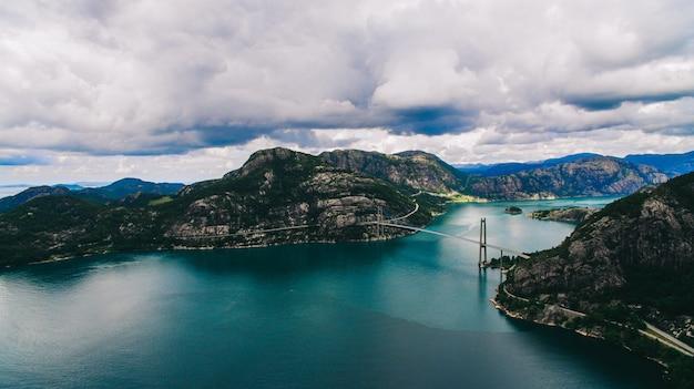 Norvège, photos aériennes, paysage, mer, montagnes,