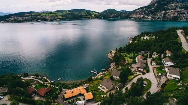 Norvège, la vue de la ville depuis l'air