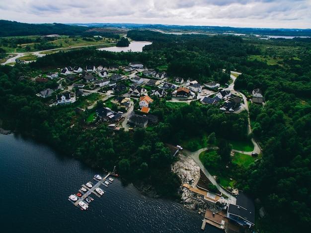Norvège, la vue sur la ville depuis les airs