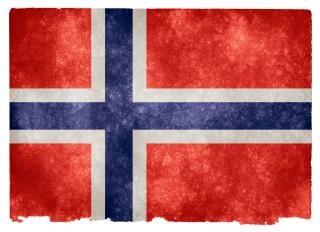 Norway flag grunge millésime