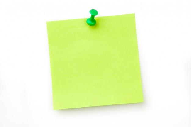 Note adhésive épinglé vert
