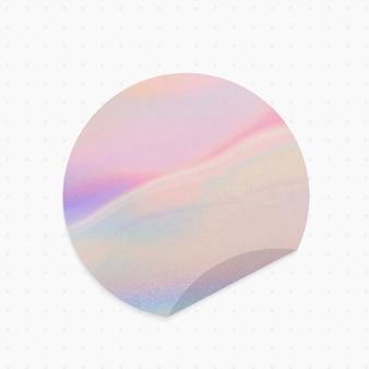 Note papier holographique de forme ronde