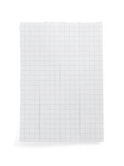 Note papier isolé sur fond blanc