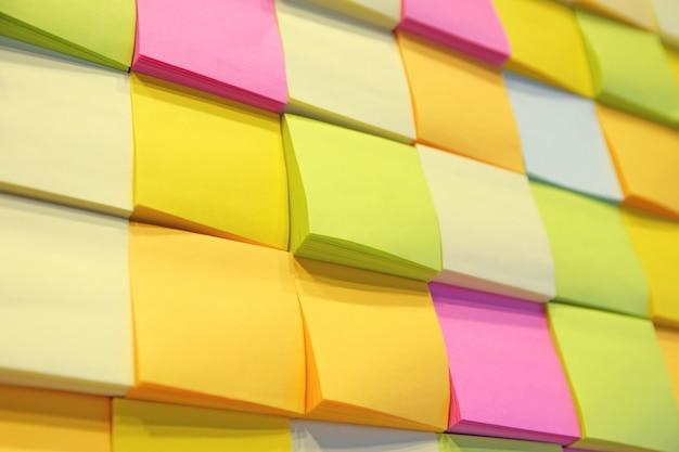 Note de papier sur le mur