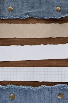 Note papier sur la texture du bois