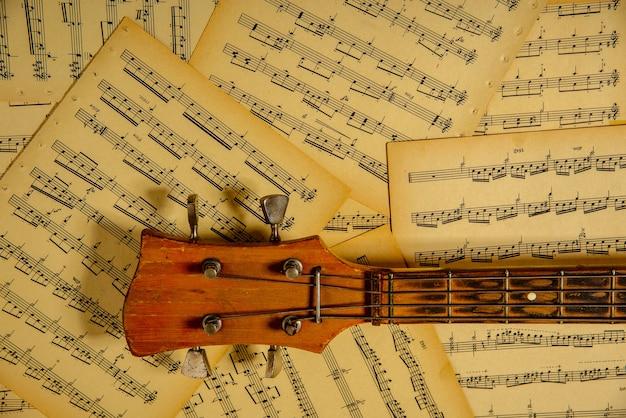 Notes pour guitare, tête de basse touche pour vos illustrations