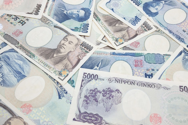 Notes de yen japonais. monnaie du japon