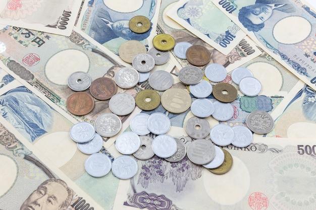 Notes de yen japonais. monnaie du japon