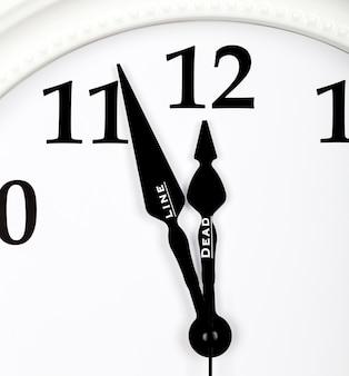 Notion de délai à venir. vue rapprochée des flèches de l'horloge