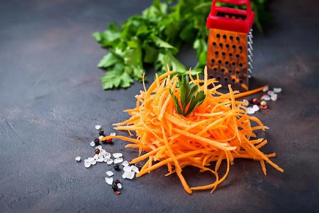Nouilles de carottes végétaliennes saines