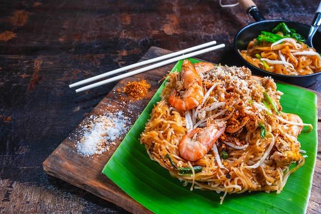 Nouilles padthai aux crevettes et légumes