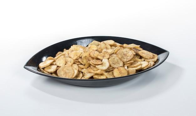 Nourriture aux chips de banane