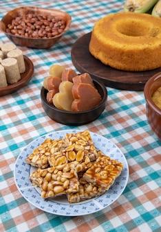 Nourriture brésilienne typique du festival de juin. festa junina.