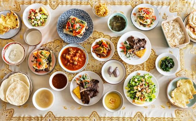 Nourriture délicieuse pour une fête du ramadan
