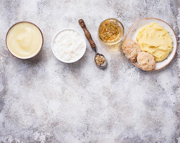 Nourriture diététique pour l'estomac malade