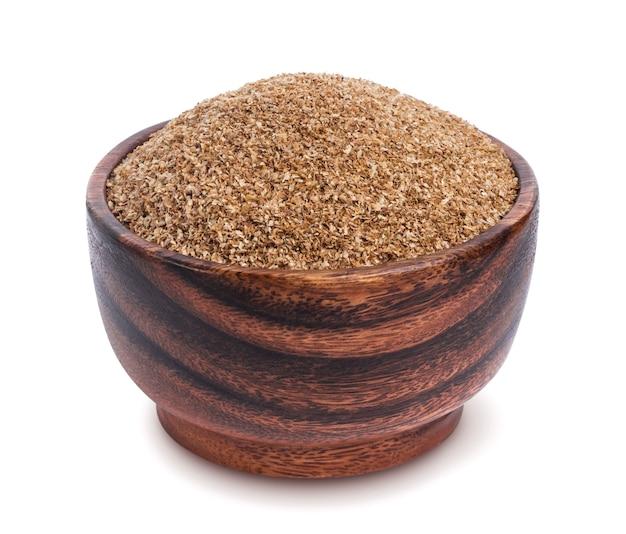 Nourriture de fibre. fibre de sol sèche isolée sur fond blanc