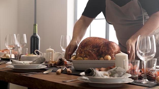 Nourriture fraîche pour le jour de thanksgiving