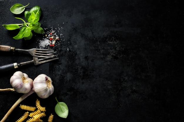 Nourriture avec des ingrédients