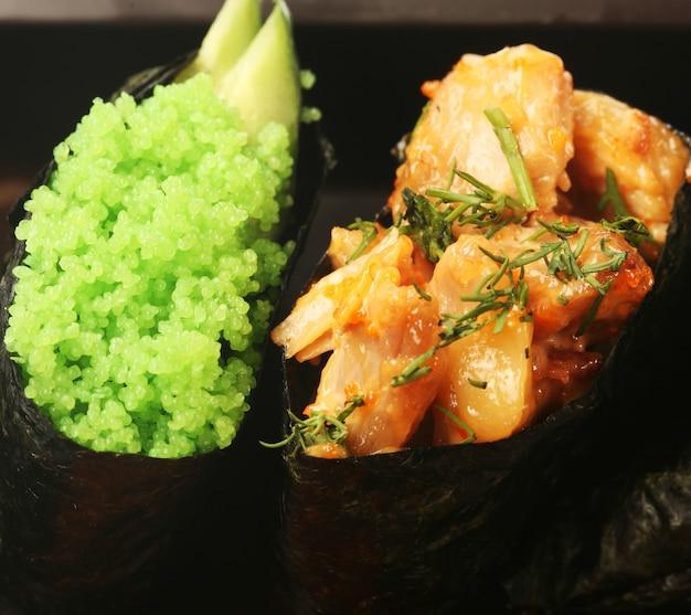 Nourriture japonaise. fermer.