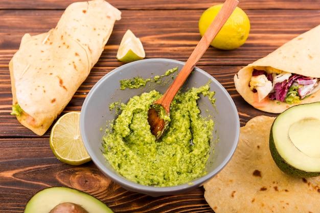 Nourriture mexicaine nature morte