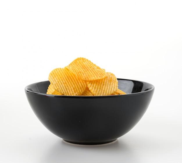 Nourriture ondulée blanc doré blanc