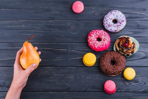 Nourriture saine et malsaine