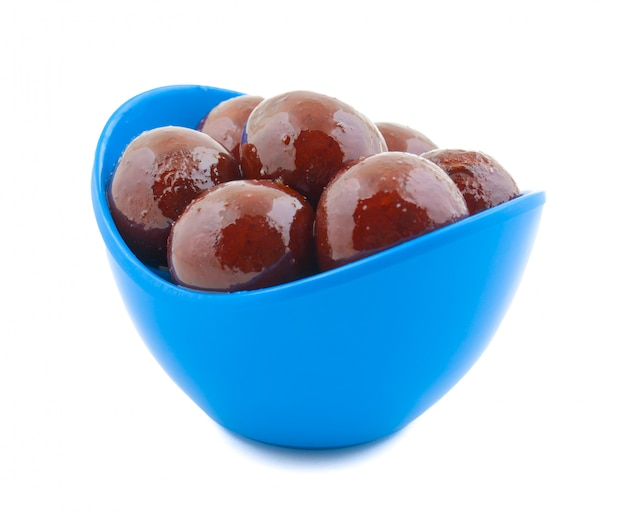 Nourriture sucrée indienne douce black gulab jamun
