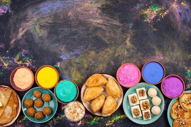Nourriture traditionnelle indienne du festival holi
