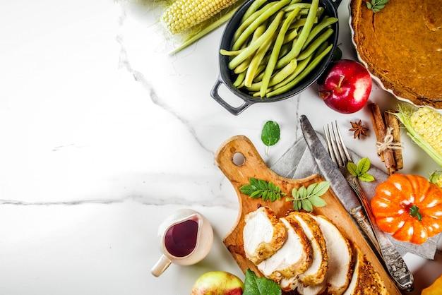 Nourriture de vacances de thanksgiving