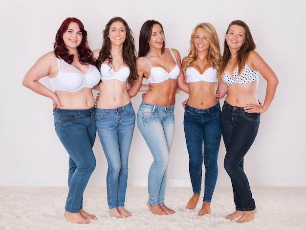 Nous aimons les jeans, peu importe notre taille