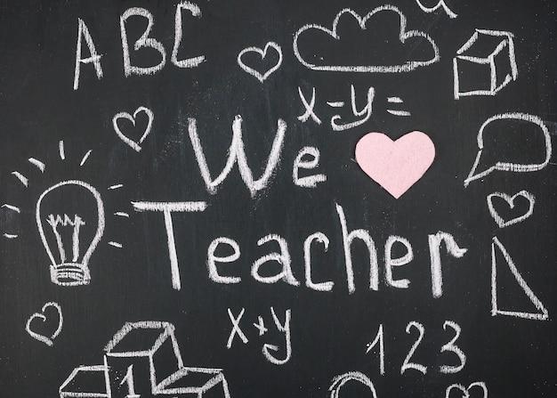 Nous aimons les mots de l'enseignant