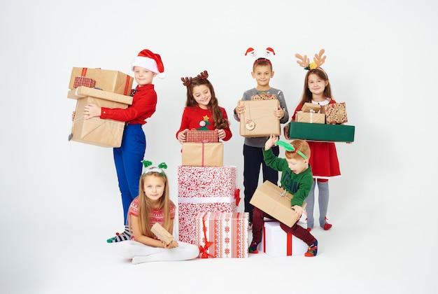 Nous avons beaucoup de cadeaux