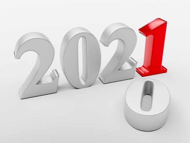 Le nouveau 2021 remplace l'ancien 2020