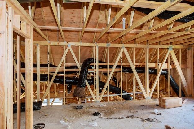 Nouveau cadrage de chantier de construction domiciliaire.