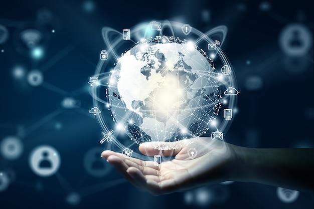 Nouveau concept de connexion commerciale mondiale