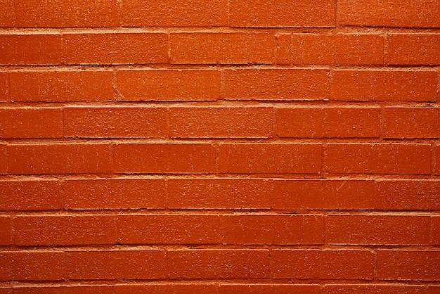 Nouveau mur de briques rouges